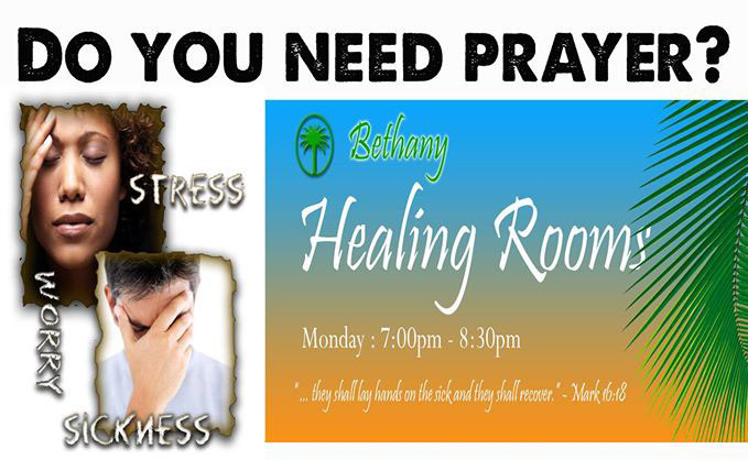 Bethany Healing Rooms is a prayer ministry for healing and deliverance.